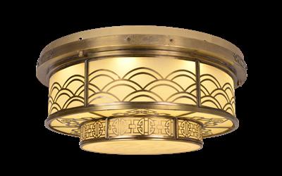 诺克-吸顶铜灯