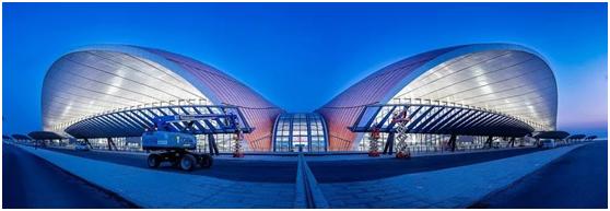 北京大兴国际机场夜景震撼,原来用了这些万博max手机登录版!